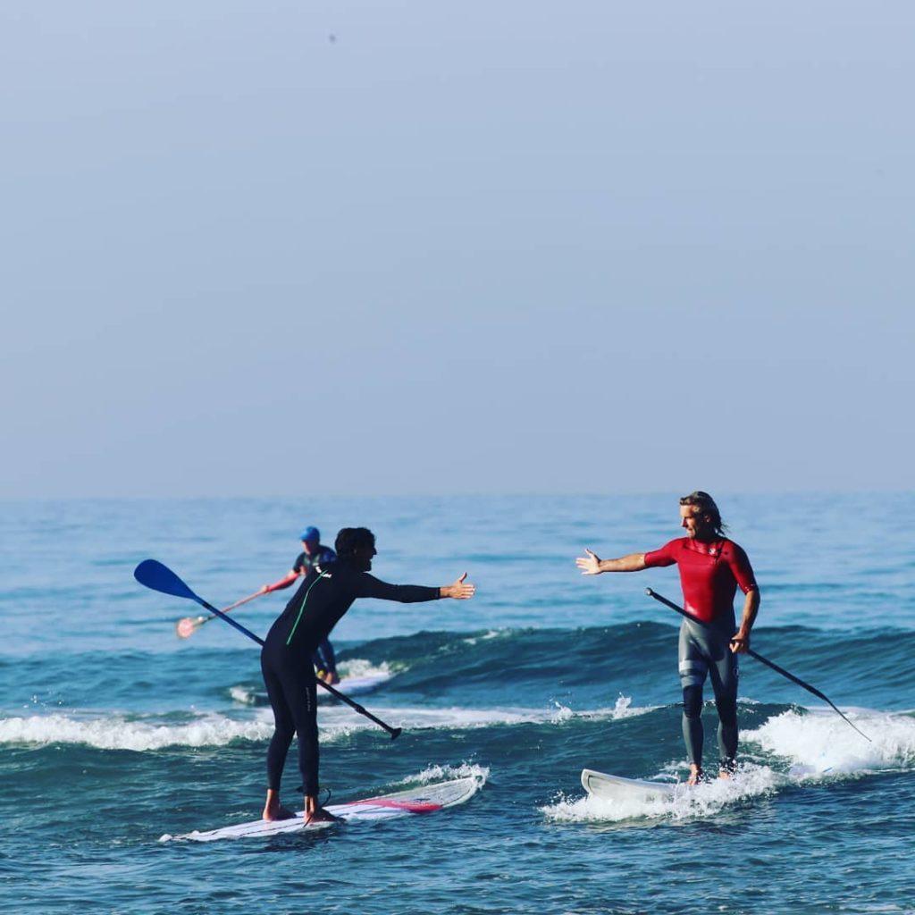 coaching paddle surf