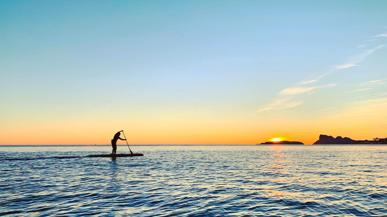 technique de rame paddle sunset