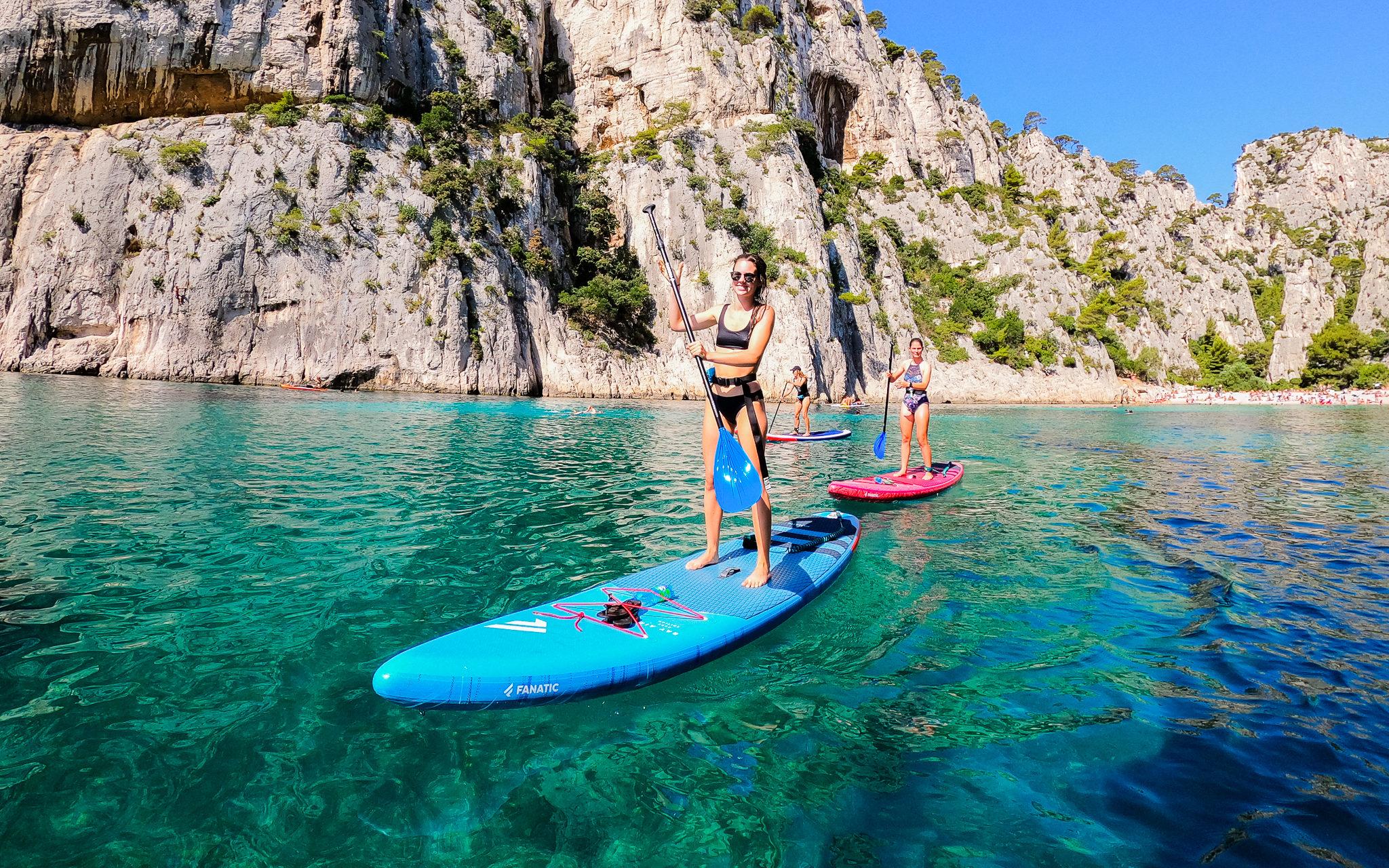Le stand up paddle interdit dans le Parc National de Calanques